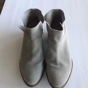 Seychelles suede grey bootie 7.5